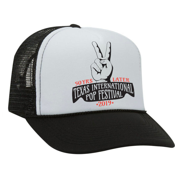 Texas International Pop Festival - Trucker Hat Black/White