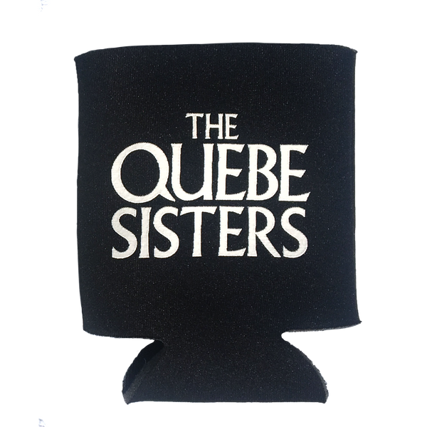 The Quebe Sisters - Black Logo Koozie