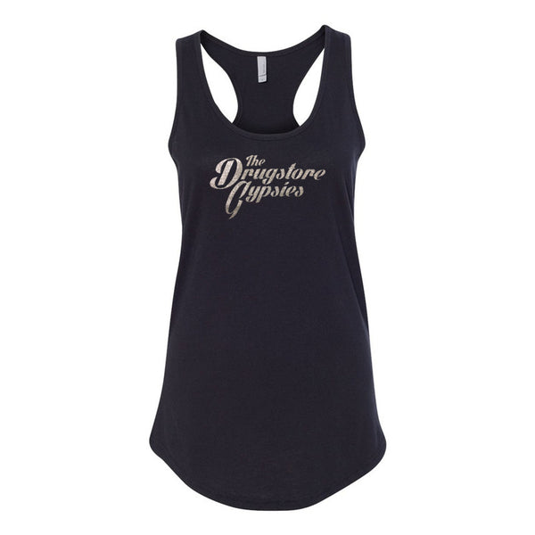 The Drugstore Gypsies - Ladies Logo Tank (Black)