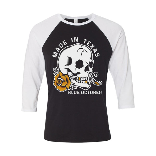 Blue October - Made In Texas Baseball Tee