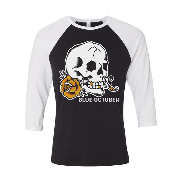 Blue October - Skull Rose Baseball Tee