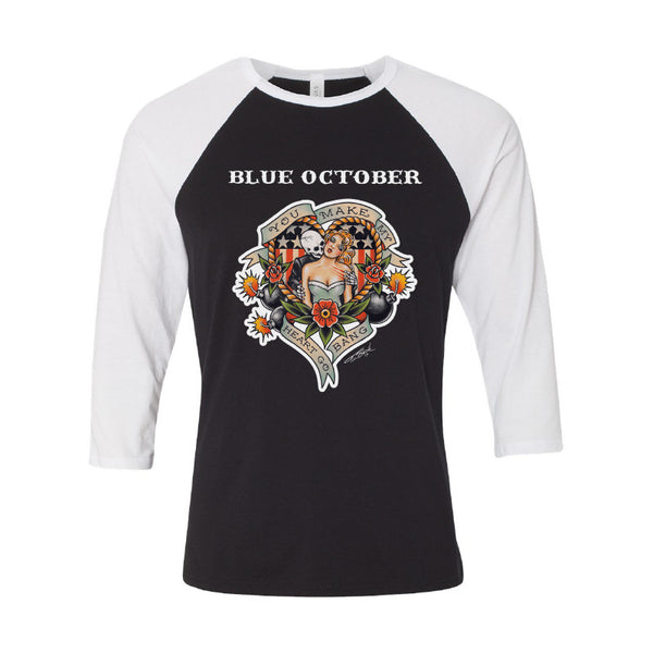 Blue October - Heart Go Bang Tour Baseball Tee