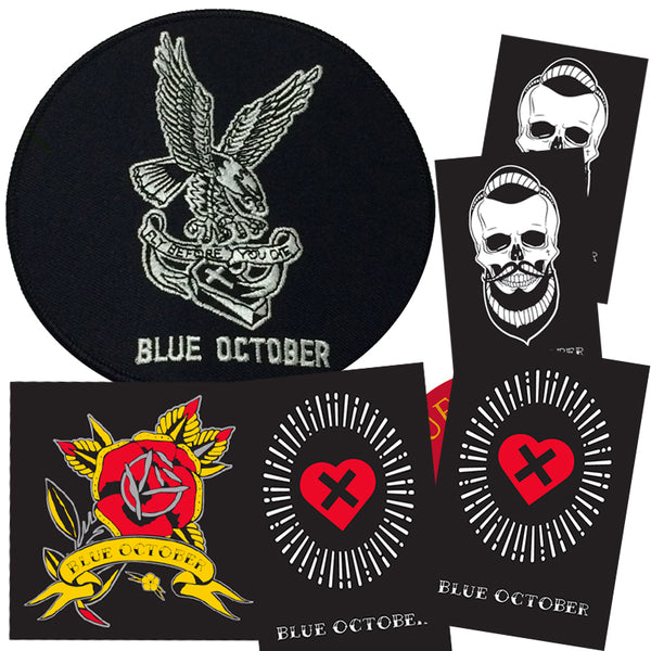 Blue October - Patch & Sticker Bundle