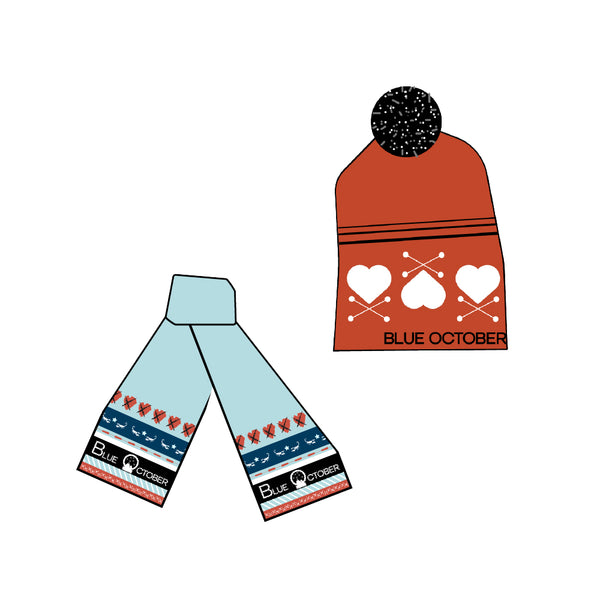 Blue October - Winter Scarf & Hat Bundle