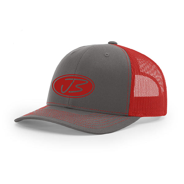 Jody Booth - Charcoal and Red 3D Logo Cap