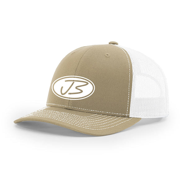 Jody Booth - Khaki and White 3D Logo Cap