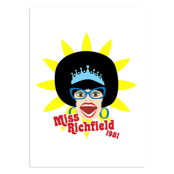 Miss Richfield 1981 - Miss Richfield Greeting Card