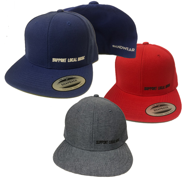 Support Local Music - Classic Snap-Back Hat - Bandwear c89b9ce9243a
