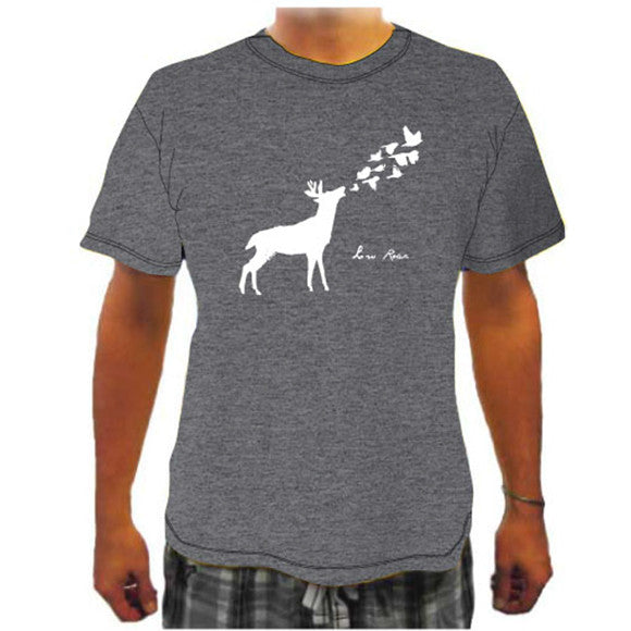 Low Roar - Deer  and  Birds Unisex Grey T-Shirt