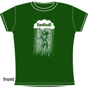 Fastball - Ladies Dancing Skeleton Tee (Green)