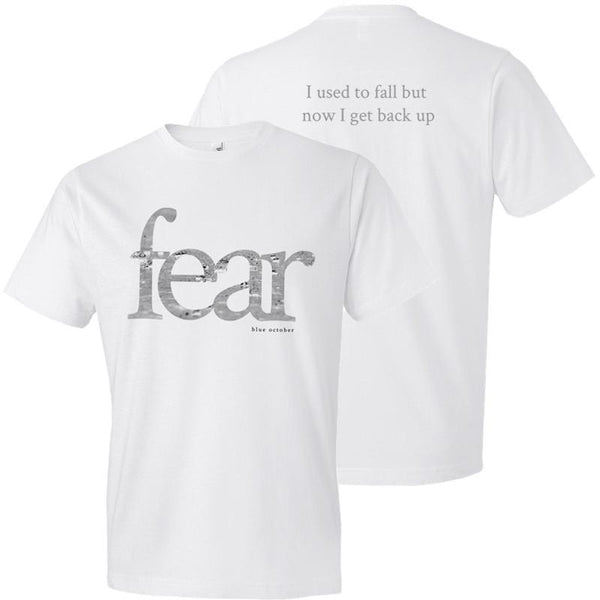 Blue October - Fear Tee (White) (PRESALE 12/16/19)
