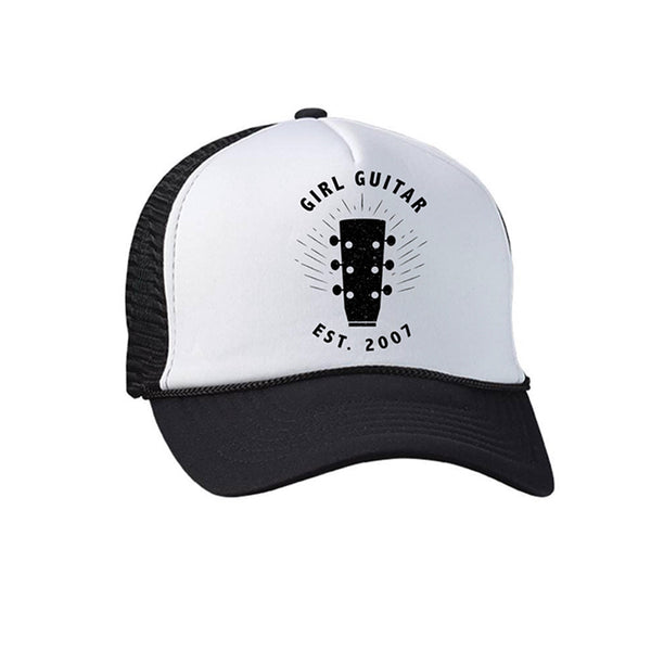 Girl Guitar - Black Trucker Hat