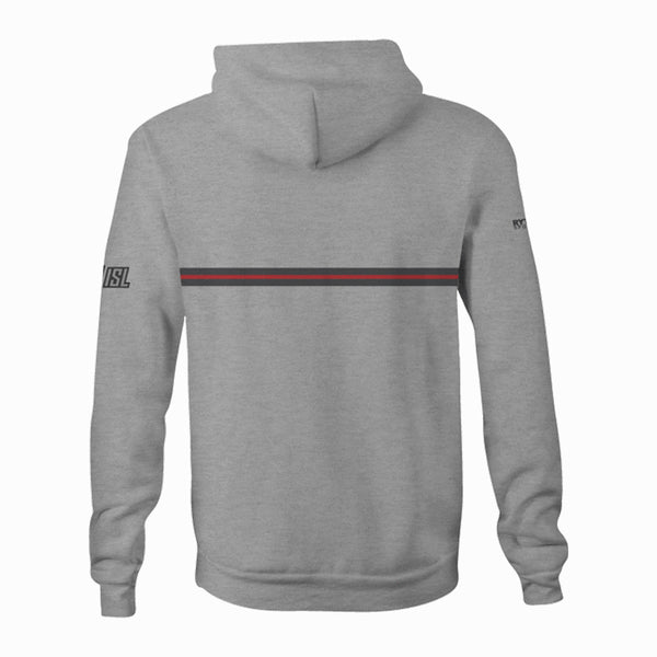 DC Trident - Custom Heathered Light Gray Unisex Adult Hooded Sweatshirt