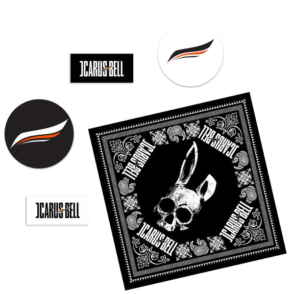 Icarus Bell - Sticker + Bandana Bundle