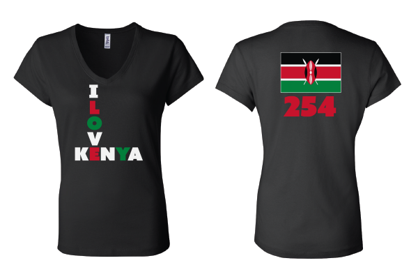 Diplomat House - Kenya 254 Women's V-neck Tee
