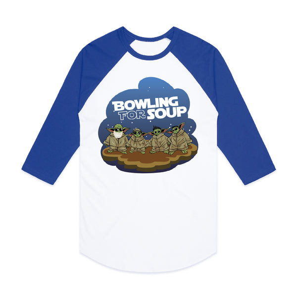 Bowling For Soup - Baby Yoda Baseball Tee (PRESALE 01/06/20)