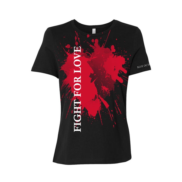 Blue October - Fight For Love Heart Ladies Tee (PRESALE 09/14/20)
