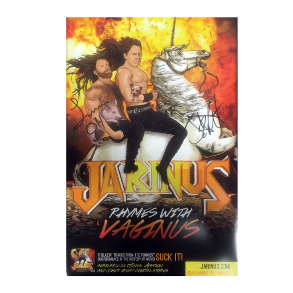 Jarinus - Rhymes With Vaginus Autographed Poster