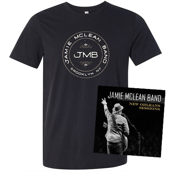Jamie Mclean Band - New Orleans Sessions Signed CD + Tee Bundle (PRESALE)