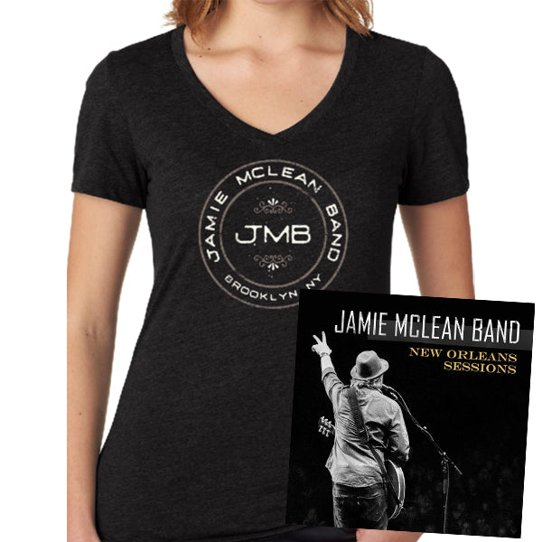 Jamie Mclean Band - New Orleans Sessions Signed CD + Ladies Tee Bundle