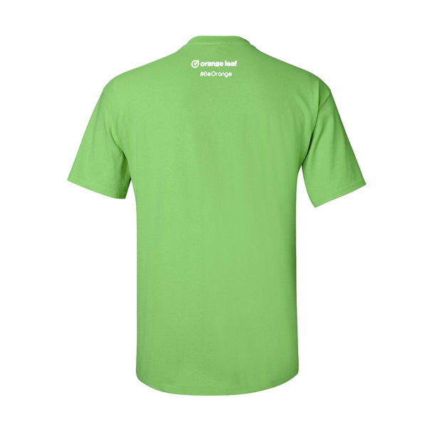 Orange Leaf Austin Uniform Store - Don't Be Afraid Tee (Lime Green)