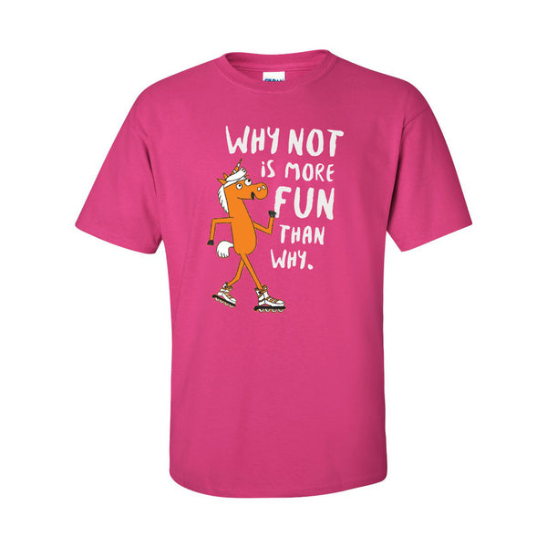 Orange Leaf Austin Uniform Store - Why Not Tee (Hot Pink)