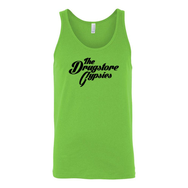 The Drugstore Gypsies - Unisex Logo Tank (Lime)
