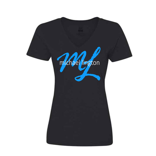 Michael Lington - Ladies Script Logo Tee (Black)