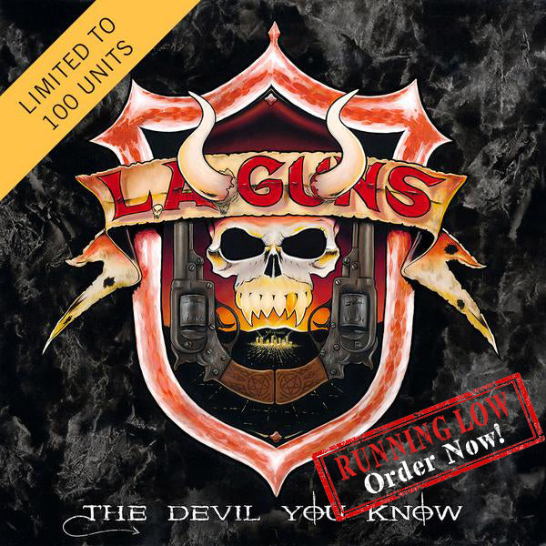 L.A. Guns - The Devil You Know Yellow Color Vinyl