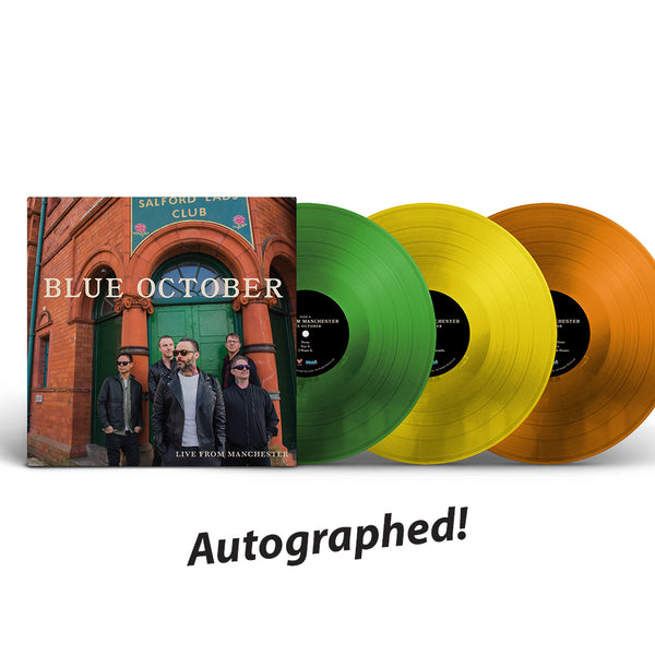 Blue October - Live From Manchester Autographed LP (PRESALE 11/29/19)