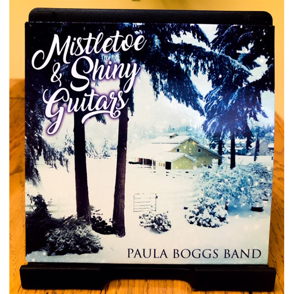 Paula Boggs Band - Limited Edition Autographed Mistletoe & Shiny Guitars Single
