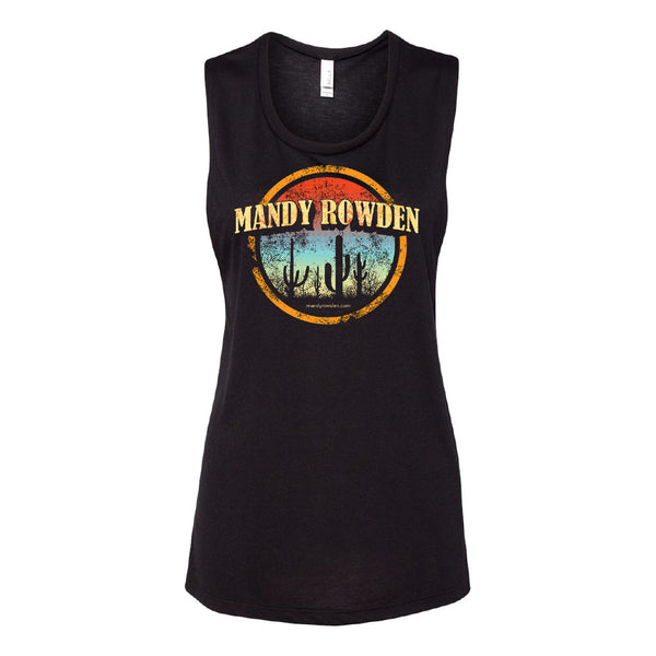 Mandy Rowden - Sunset Cactus Ladies Tank