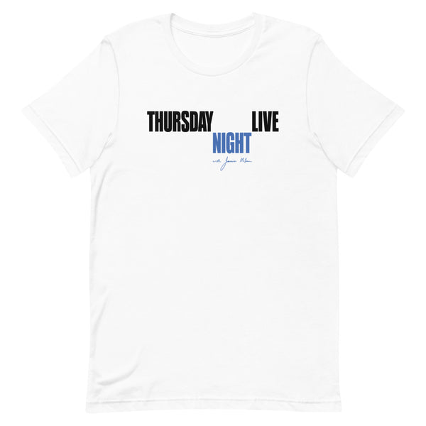Jamie Mclean Band - Thursday Night Live Tee (White)