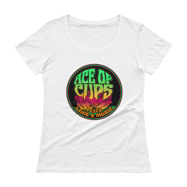 Ace of Cups - Ladies Logo Tee (White)