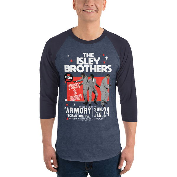 The Isley Brothers - Vintage Twist and Shout Baseball Tee
