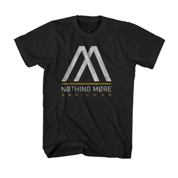 Nothing More - T-Shirt - Black  and  Yellow Logo