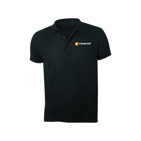 Orange Leaf Austin Uniform Store - Employee Logo Polo (Black)