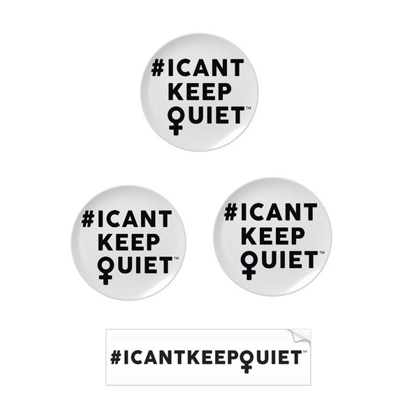 MILCK - #ICANTKEEPQUIET Pins Bundle (3-Pack)
