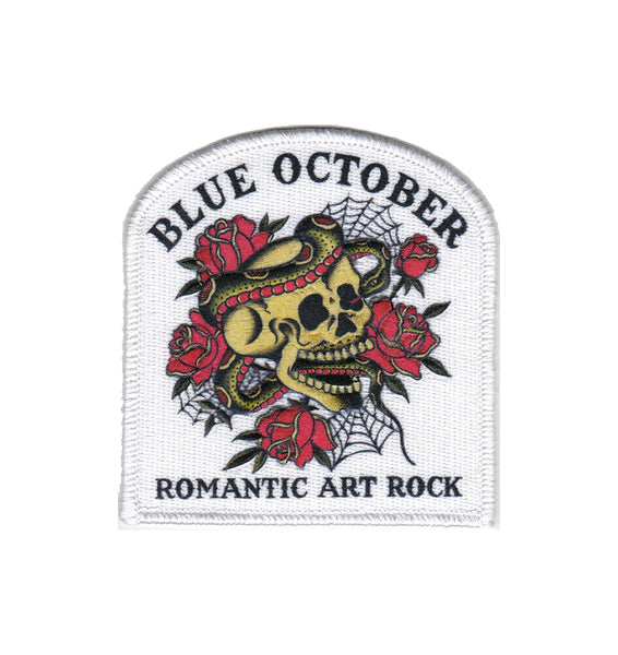 Blue October - Romantic Art Rock White Patch