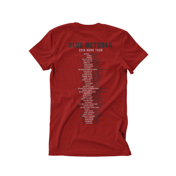 Blue October - Home Tour Tee (Red) (Spring Dates)