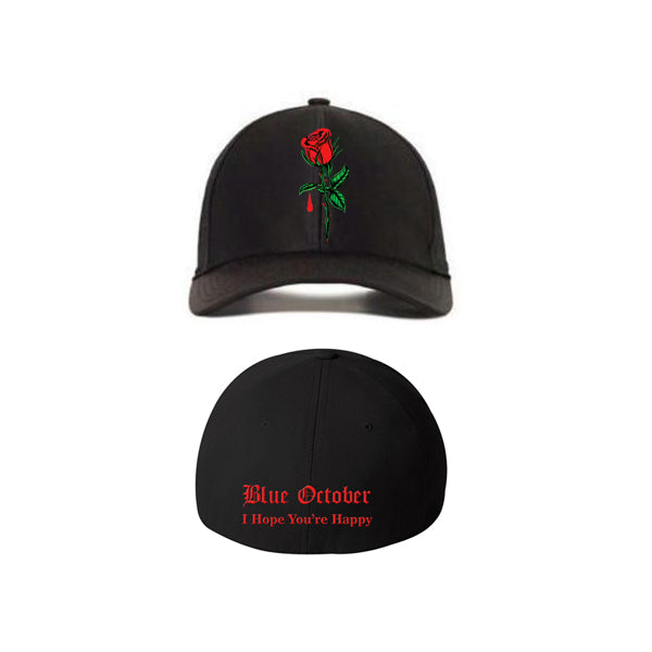 b2c0dd1cc35 Blue October - IHYH Rose Embroidered Hat - Bandwear