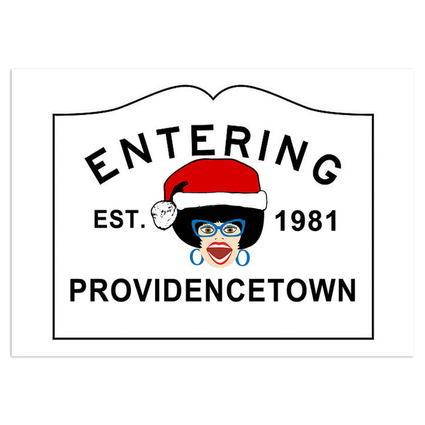 Miss Richfield 1981 - Entering Providencetown Card