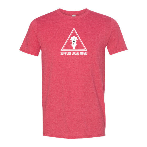 Support Local Music -  Warning Sign Tee (Red)