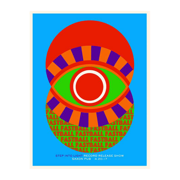 "Fastball - Exclusive Silkscreen ""Step Into Light"" Record Release Poster"