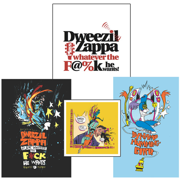 Dweezil Zappa - Sticker & Mini Poster Set