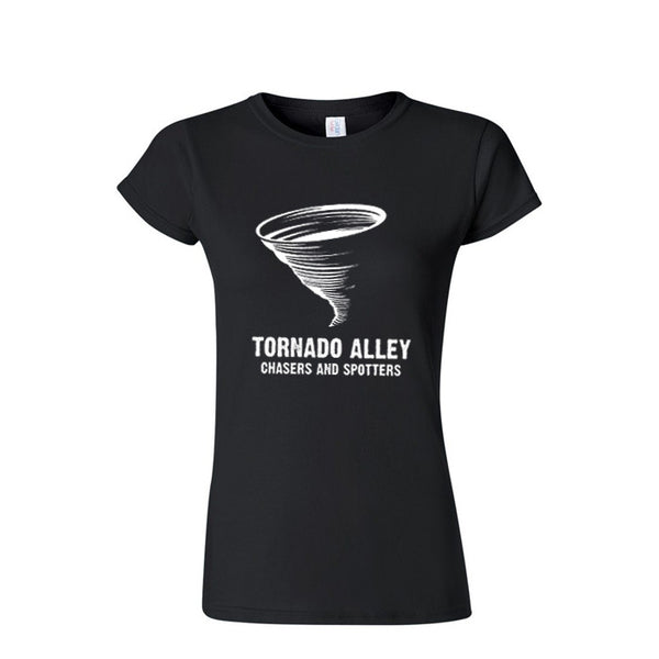 Tornado Alley Chasers and Spotters - Women's Logo Tee (Black)