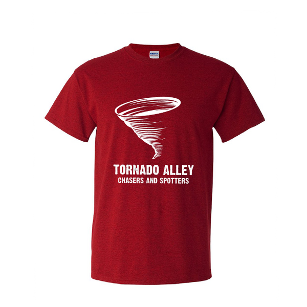 Tornado Alley Chasers and Spotters - Unisex Logo Tee (Red)