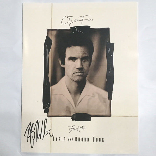Tyler Hilton - Signed Lyric & Chord Book for City On Fire