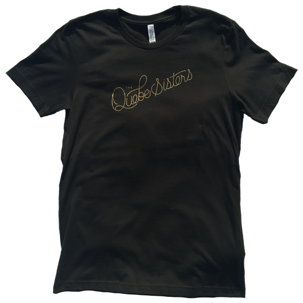 The Quebe Sisters - Vintage Black Logo Script Tee
