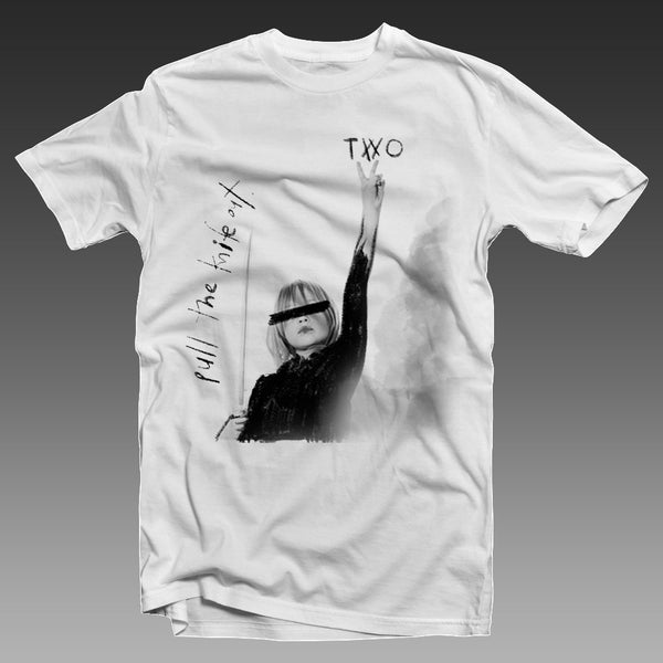 TWO - Pull the Knife Out EP Tee White (PRESALE 08/07/2020)